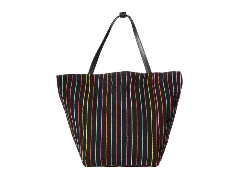 エリザベスアンドジェームズ レディース ハンドバッグ バッグ Blanket Stripe Teller Tote Black/Multi