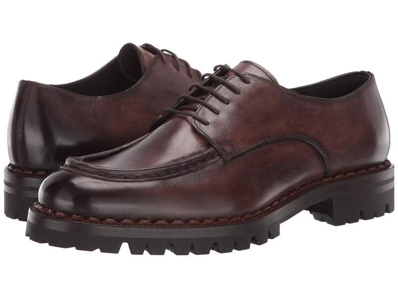 イレブンティ メンズ オックスフォード シューズ Lace-Up Chunky Shoe Dark Brown