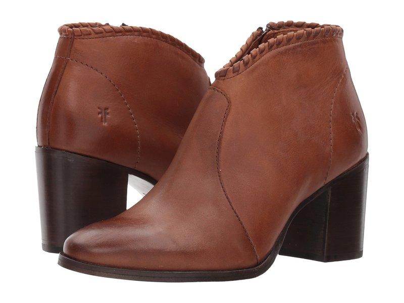 フライ レディース ブーツ・レインブーツ シューズ Nora Whipstitch Shootie Cognac Leather