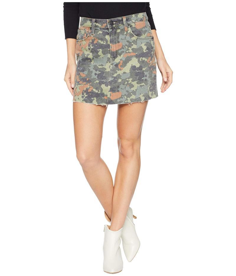 ハドソンジーンズ レディース スカート ボトムス The Viper Mini Skirt in German Camo German Camo