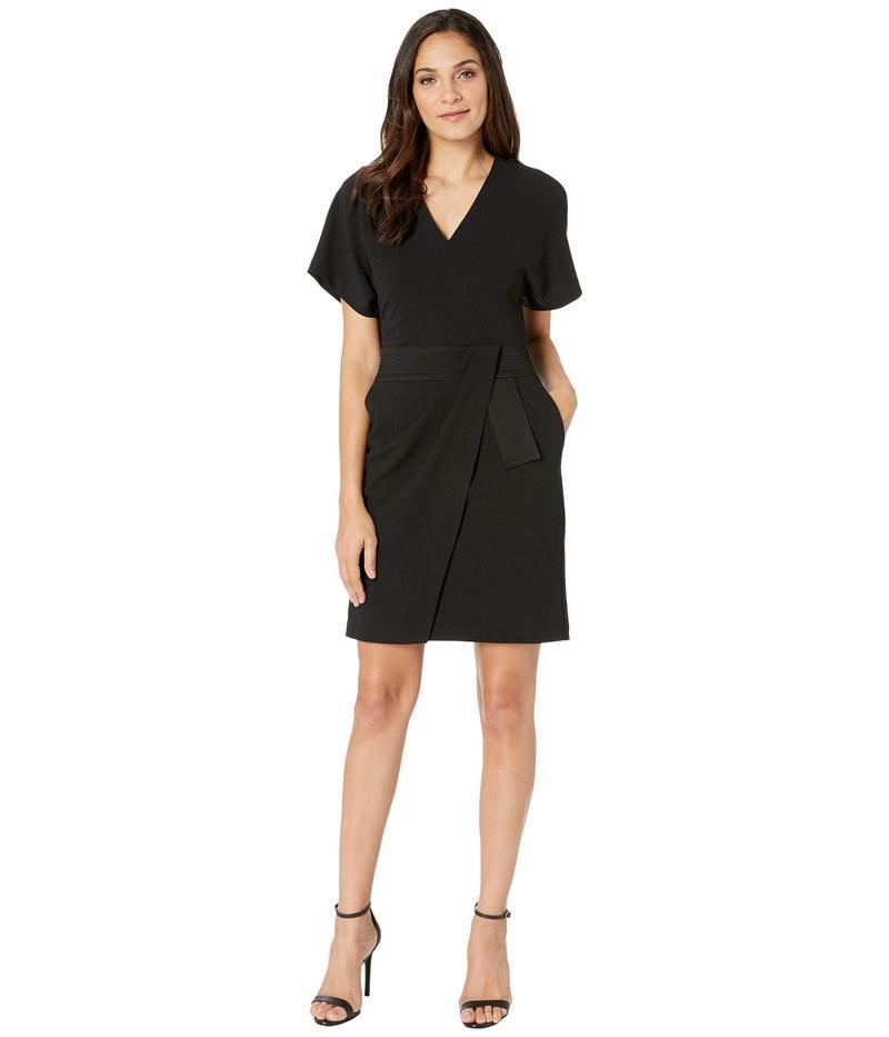 ホルストンヘリテイジ レディース ワンピース トップス Faux Wrap Multi Needle Waist Dress Black