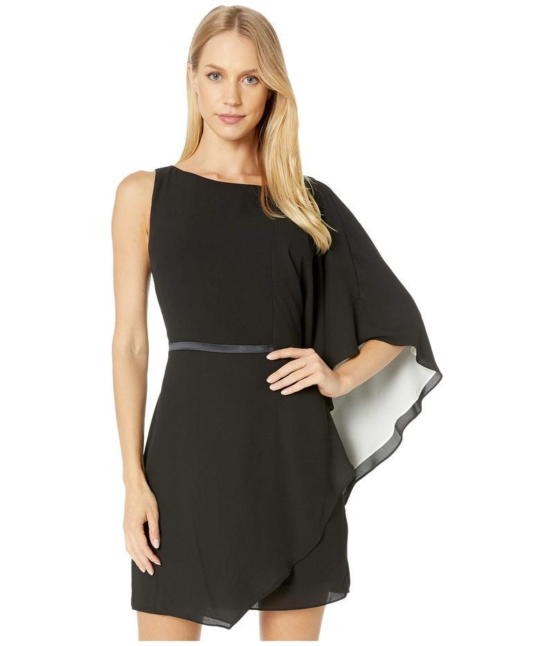ホルストンヘリテイジ レディース ワンピース トップス Asymmetric Draped Sleeve Flowy Dress Black/Chalk