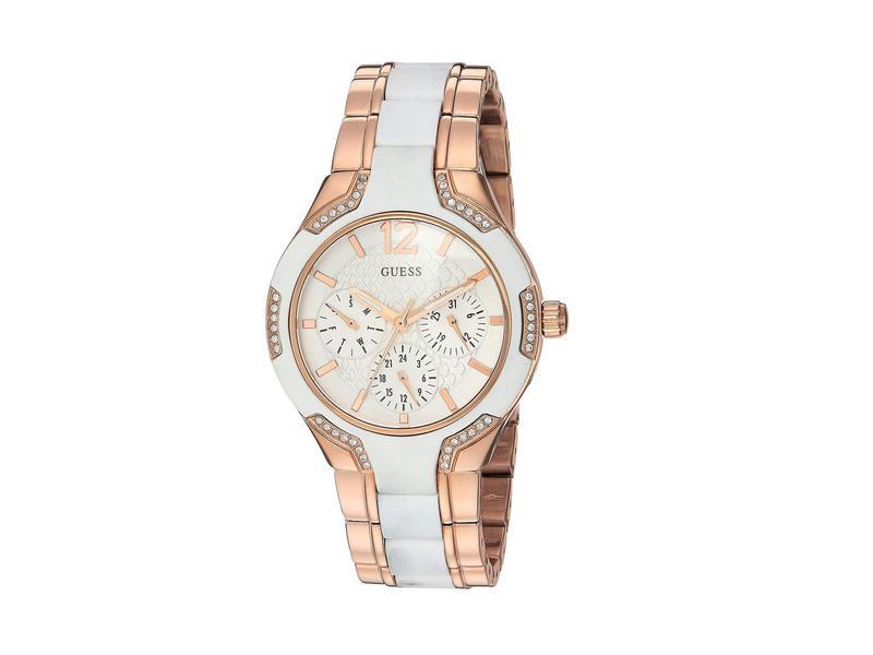 ゲス レディース 腕時計 アクセサリー U0556L3M White/Rose Gold