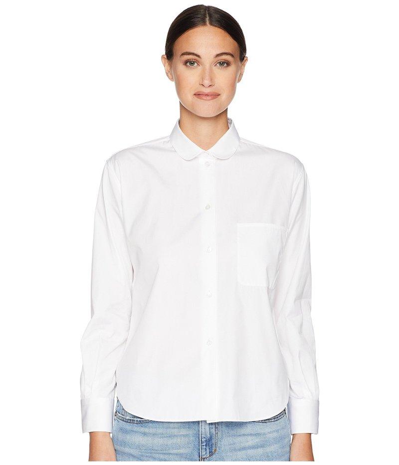 ジル サンダー レディース シャツ トップス Long Sleeve Shirt Round Collar Pocket on the Front White