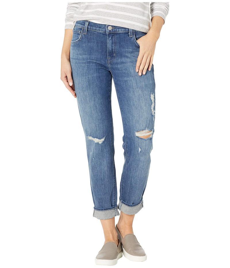 ジェイブランド レディース デニムパンツ ボトムス Johnny Mid-Rise Boy Fit Jeans in Redemption Destruct Redemption Destruct