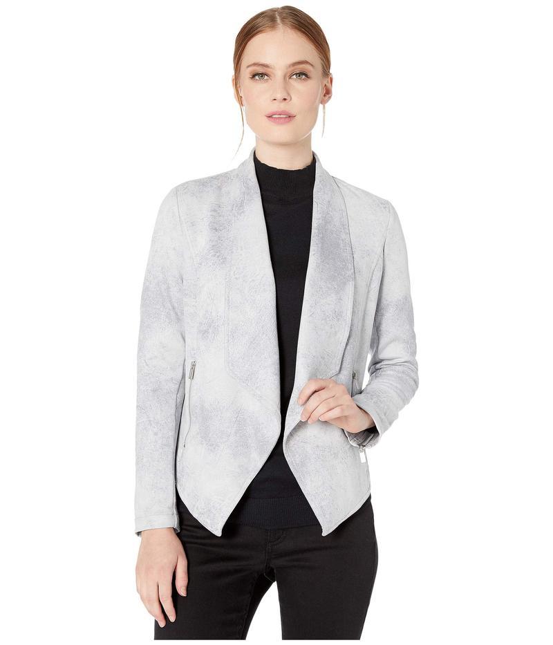 ジョーンズニューヨーク レディース コート アウター Drape Front Jacket Silver Grey