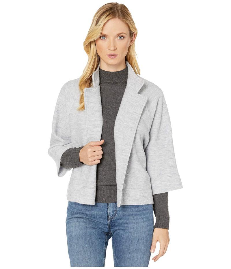 ジョーンズニューヨーク レディース コート アウター 3/4 Sleeve Boiled Wool Cape Silver/Grey Heather