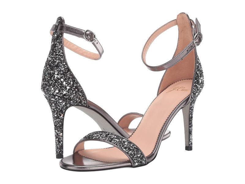 ジェイクルー レディース ヒール シューズ Glitter Basic Riley Sandal Black/Silver