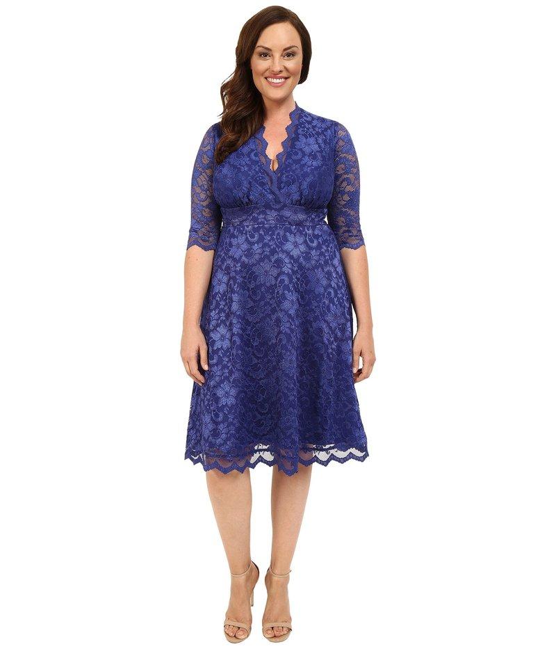 キヨナ レディース ワンピース トップス Mademoiselle Lace Dress Sapphire Blue
