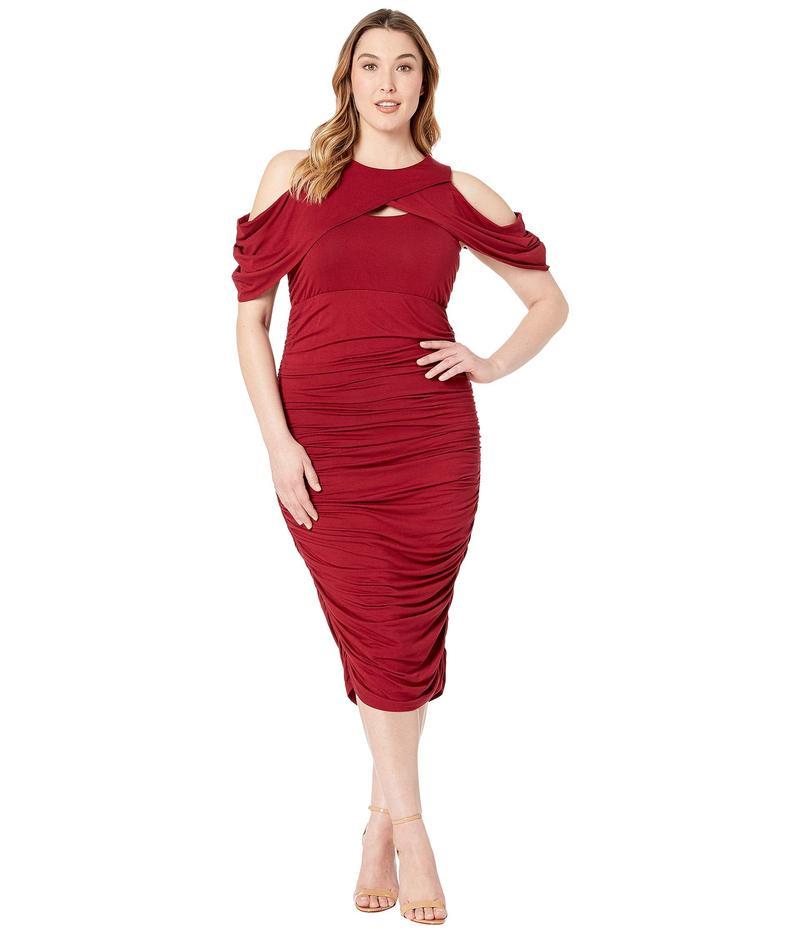 キヨナ レディース ワンピース トップス Bianca Ruched Dress Ruby