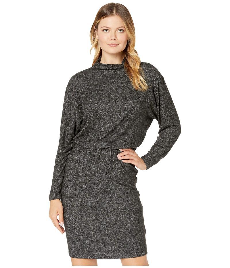 ケネスコール レディース ワンピース トップス Ruched Detail Dress Charcoal Grey Heather