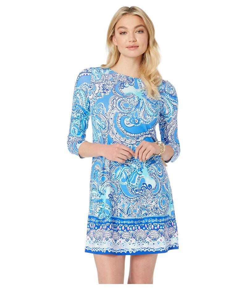 リリーピュリッツァー レディース ワンピース トップス Ophelia Dress Coastal Blue Legga Sea Engineered Dress