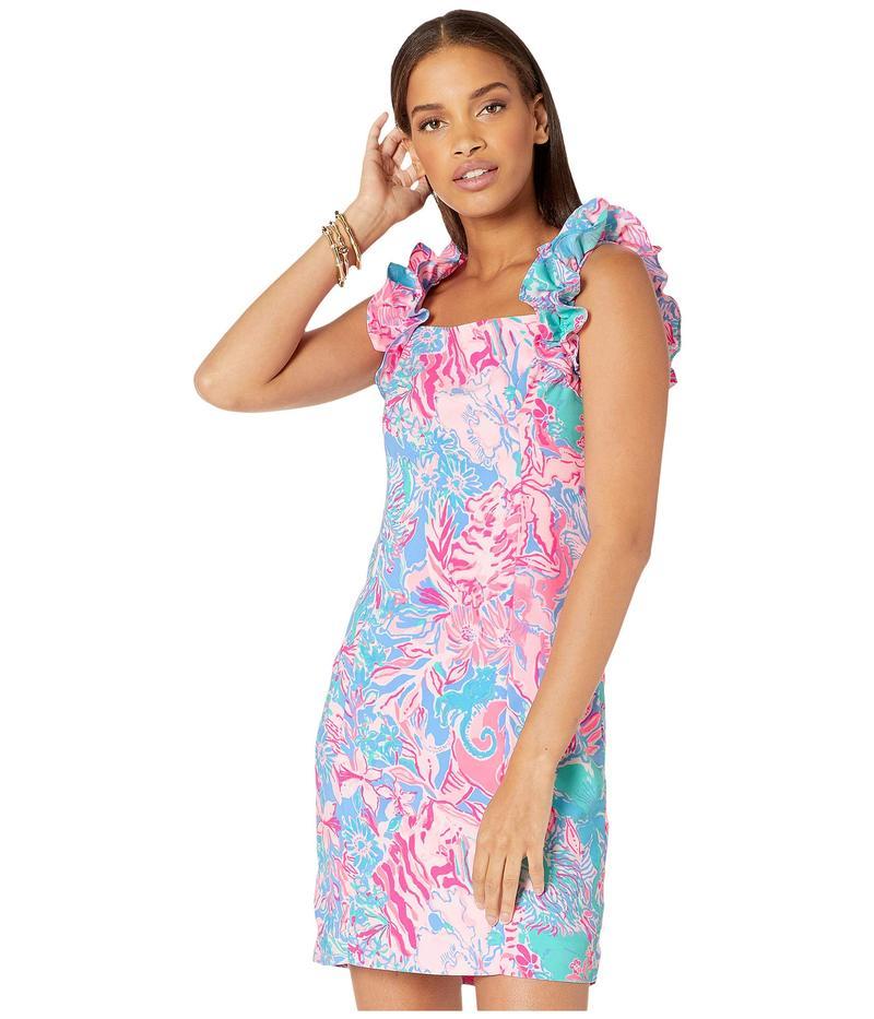 リリーピュリッツァー レディース ワンピース トップス Steffi Stretch Shift Dress Blue Peri Viva La Lilly