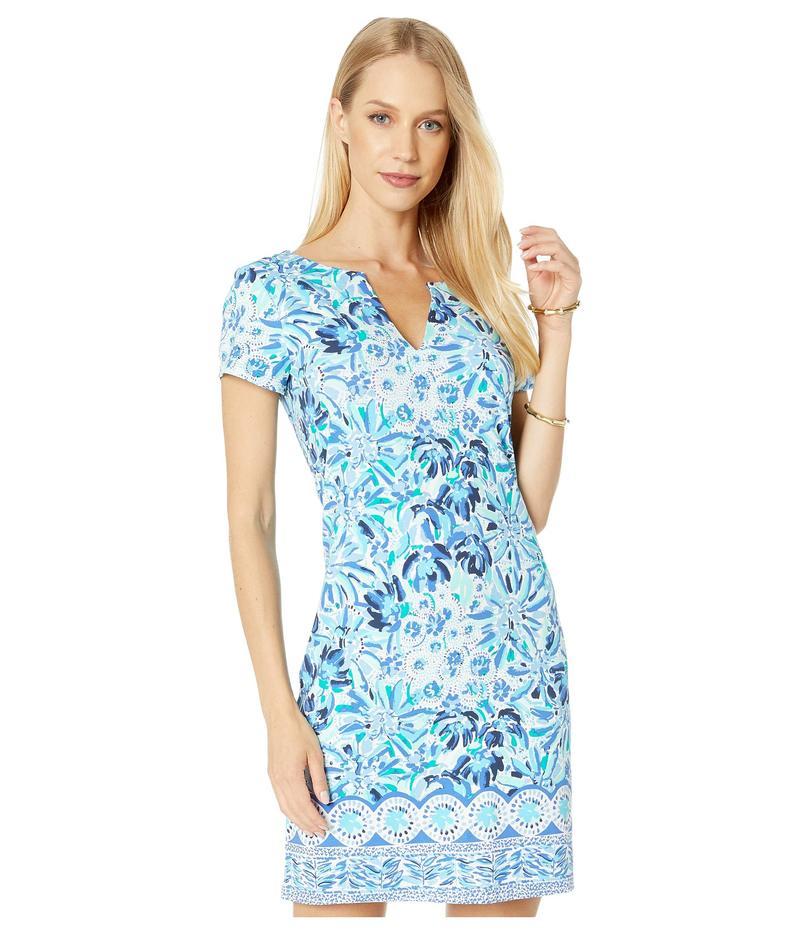 リリーピュリッツァー レディース ワンピース トップス UPF 50+ Sophiletta Dress Iris Blue High Manetenance Engineered Knit Dress