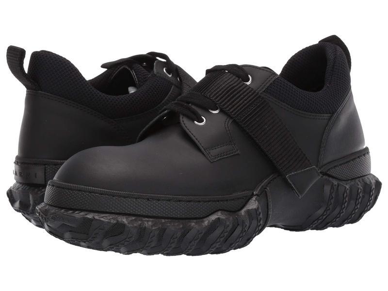 マルニ メンズ スニーカー シューズ Hook and Loop/Lace-Up Shoe Black