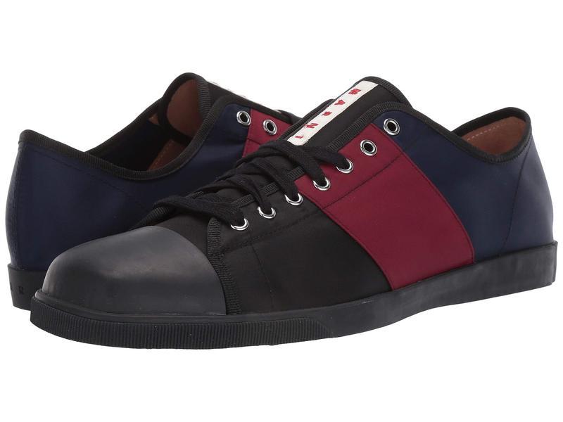 マルニ メンズ スニーカー シューズ Multicolor Tennis Sneaker Black/Port/Red/Blue