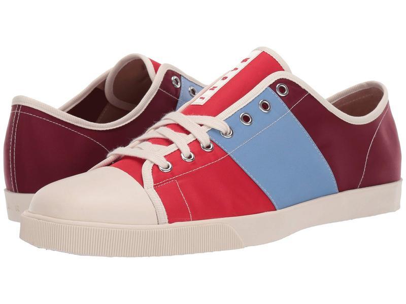 マルニ メンズ スニーカー シューズ Multicolor Tennis Sneaker Red/Water
