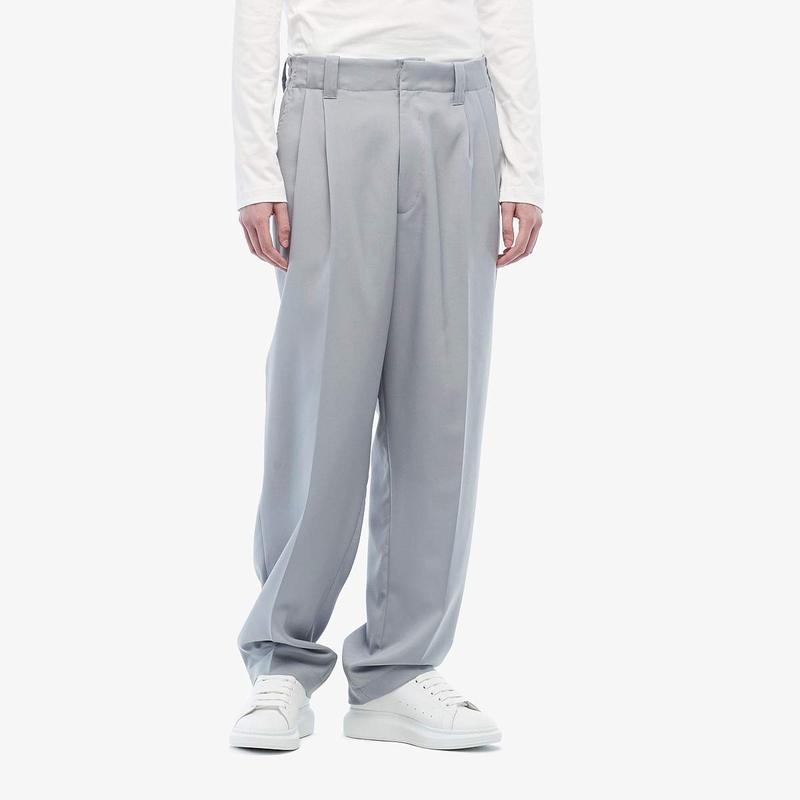 マルニ メンズ カジュアルパンツ ボトムス Runway Tropical Wool Pants Light Grey