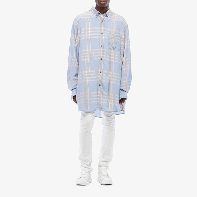 マルニ メンズ シャツ トップス Macro Check Toile Shirt Light Blue/Yellow