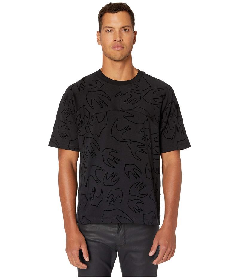 アレキサンダー・マックイーン メンズ シャツ トップス Converted Sparrow T-Shirt Darkest Black