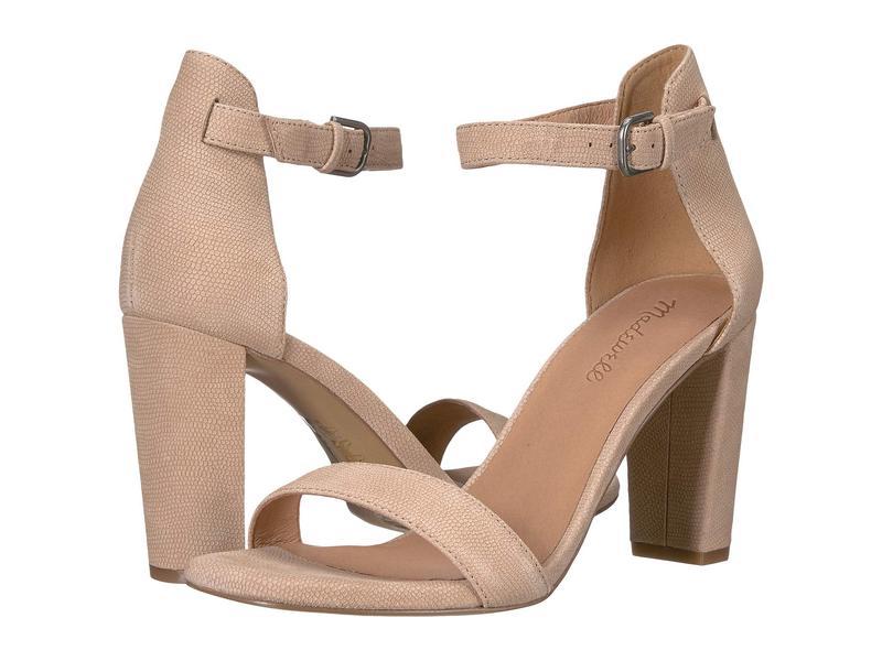 メイドウェル レディース ヒール シューズ Brooke Ankle-Strap Sandal Sand Dune Embossed Leather