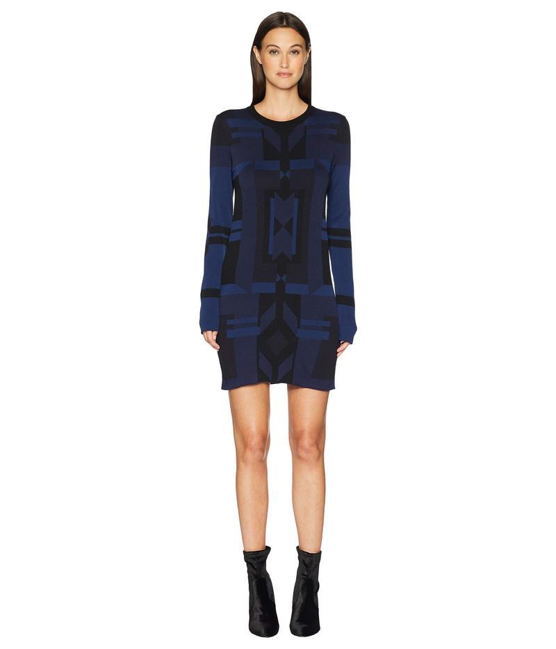 ニールバレット レディース ワンピース トップス Deco Design Tech Yarn Dress Black/Dark Navy