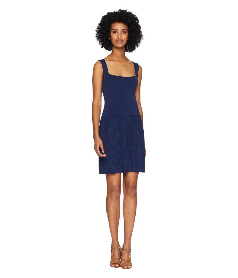 ニールバレット レディース ワンピース トップス Square Neckline Plisse Dress Blue