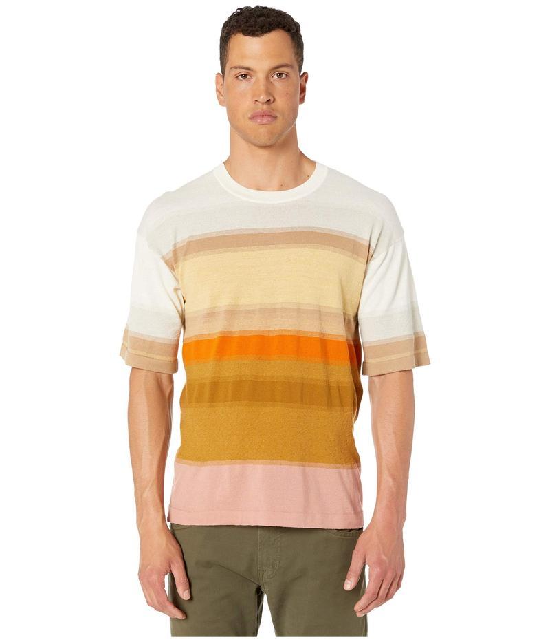 ミッソーニ メンズ シャツ トップス Golden Hour Short Sleeve Cotton Linen Sweater Sand Multi