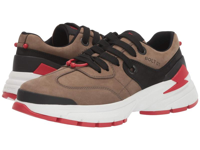 ニールバレット メンズ スニーカー シューズ Bolt01 Sneaker Khaki/Black/Red
