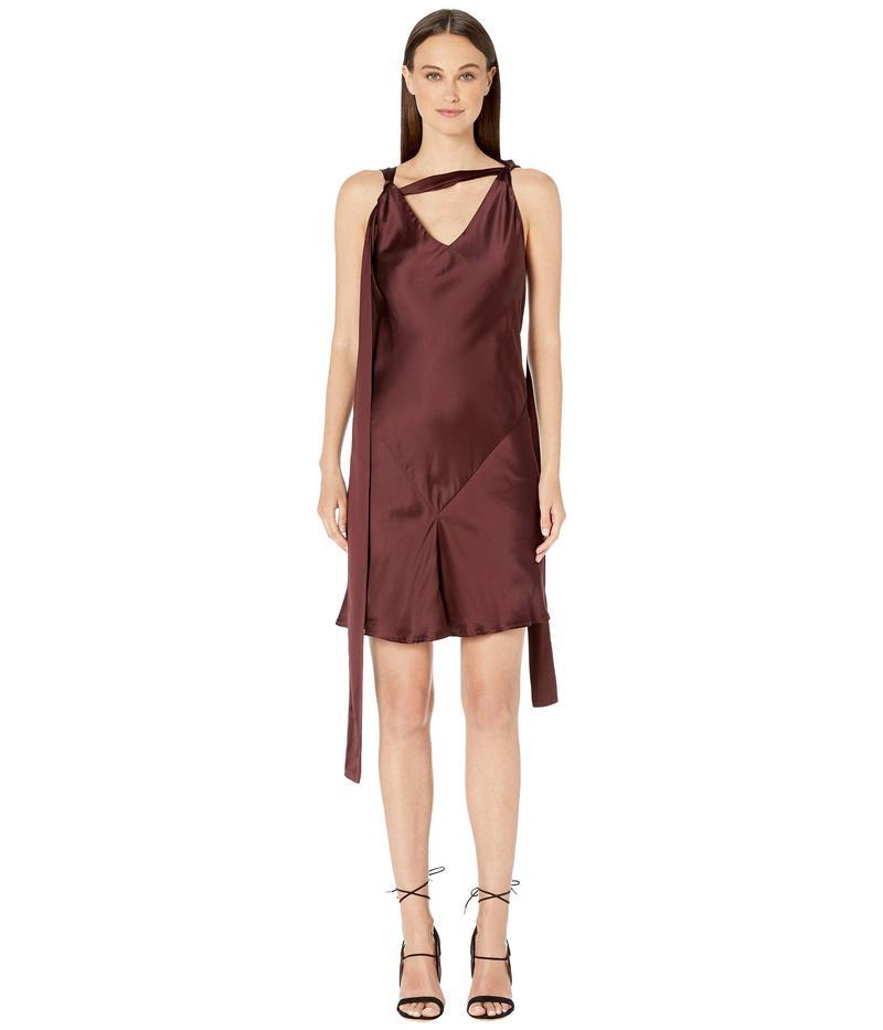 ニールバレット レディース ワンピース トップス Bias Cut Fall-Away Dress Bordeaux