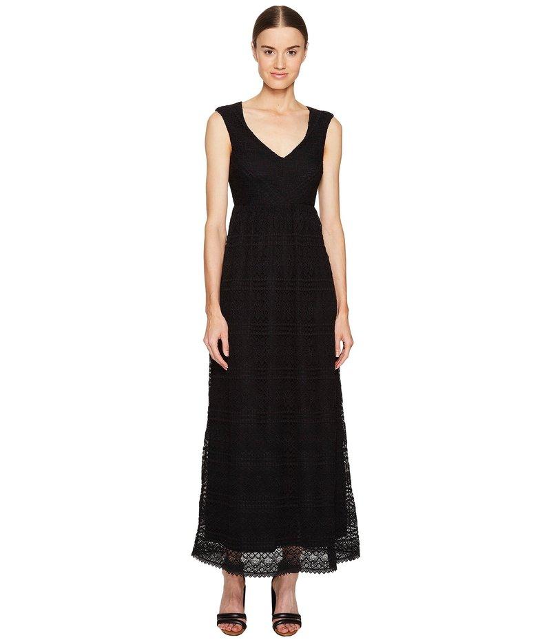 レッドヴァレンティノ レディース ワンピース トップス Cotton Lace Jersey Dress Black