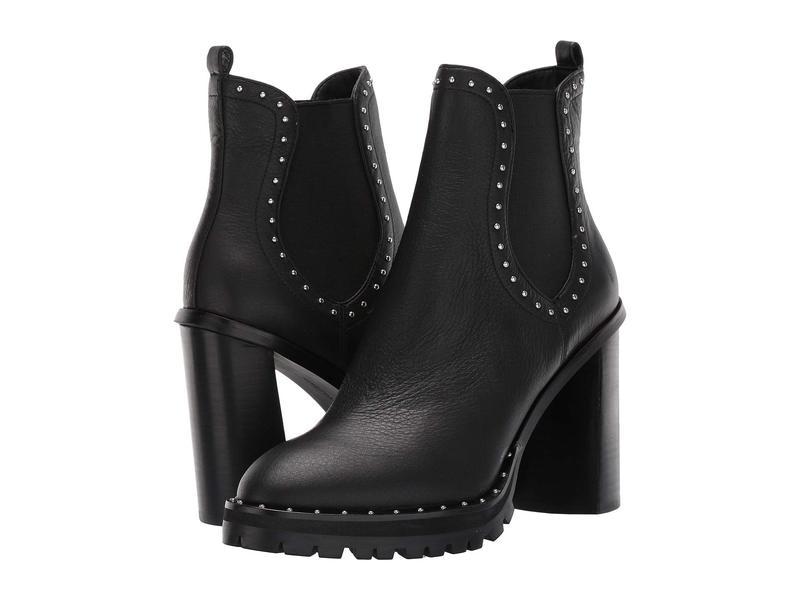 レベッカミンコフ レディース ブーツ・レインブーツ シューズ Edolie Black Leather