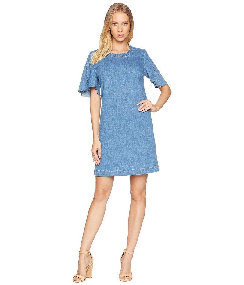 セブンフォーオールマンカインド レディース ワンピース トップス Popover Dress w/ Kick Sleeves Bright Blue Jay 3