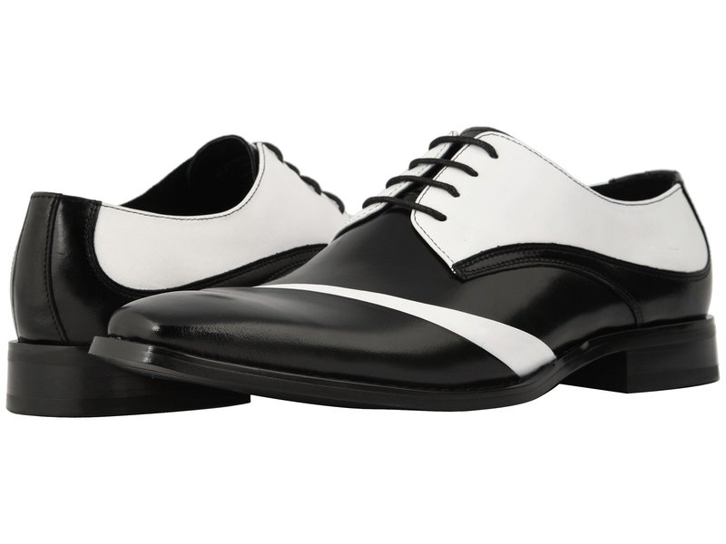 ステイシーアダムス メンズ オックスフォード シューズ Talmadge Lace Up Oxford Black/White