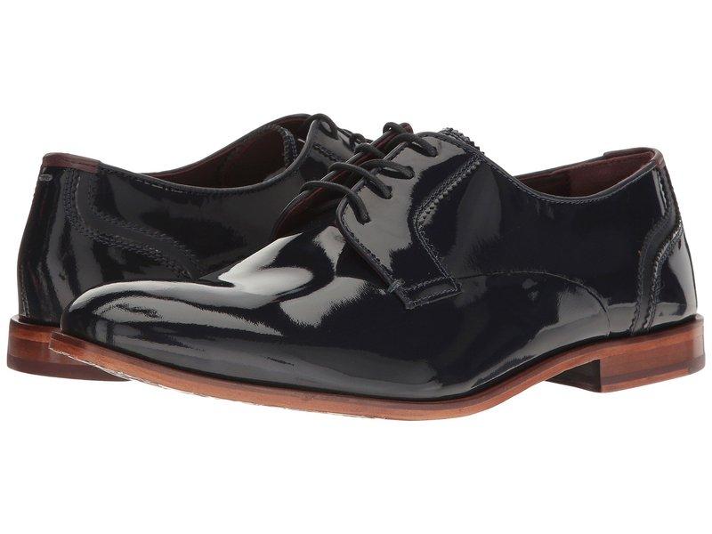 テッドベーカー メンズ オックスフォード シューズ Iront Dark Blue Leather