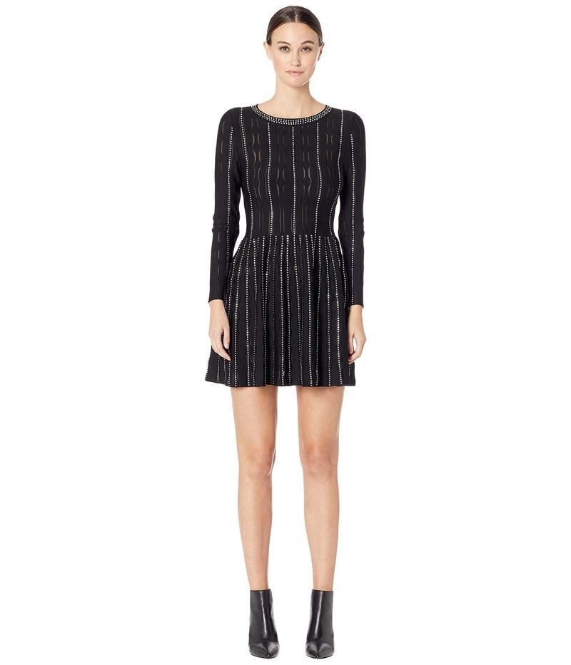 ザ・クープルス レディース ワンピース トップス Fully Studded Knit Dress Black