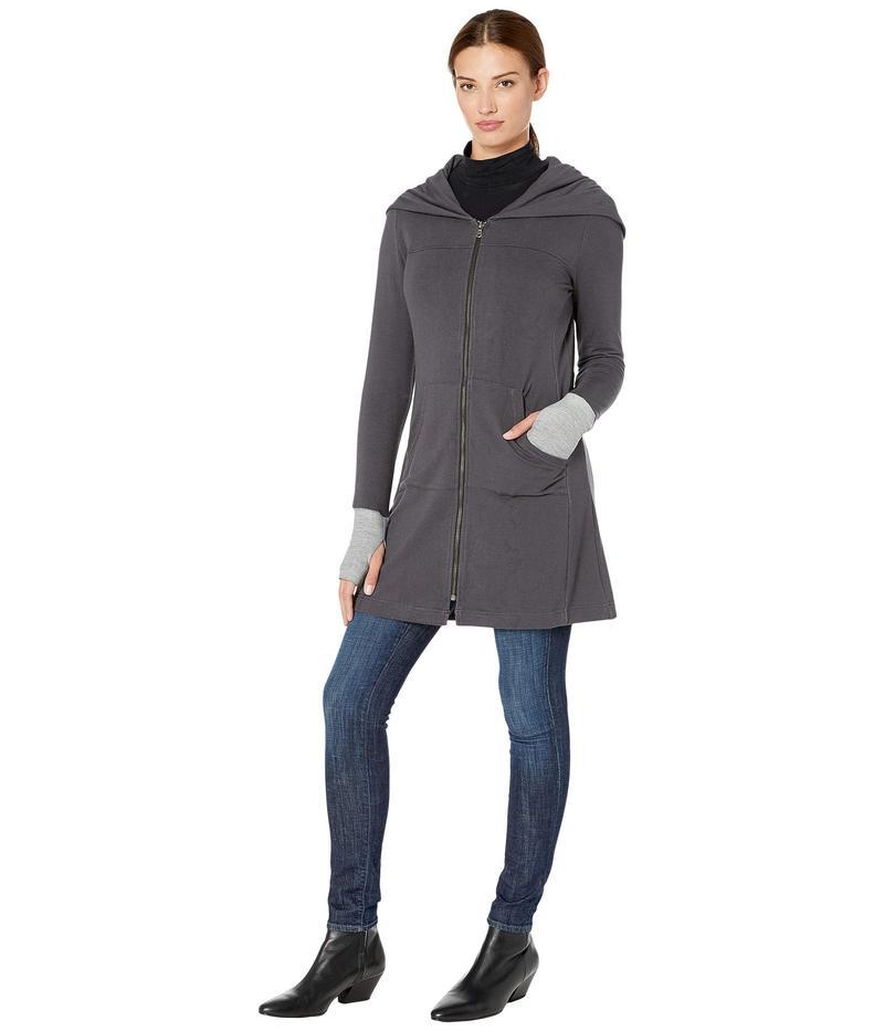 トリバル レディース ニット・セーター アウター Long Sleeve Cardigan w/ Kangaroo Pocket Steel Grey