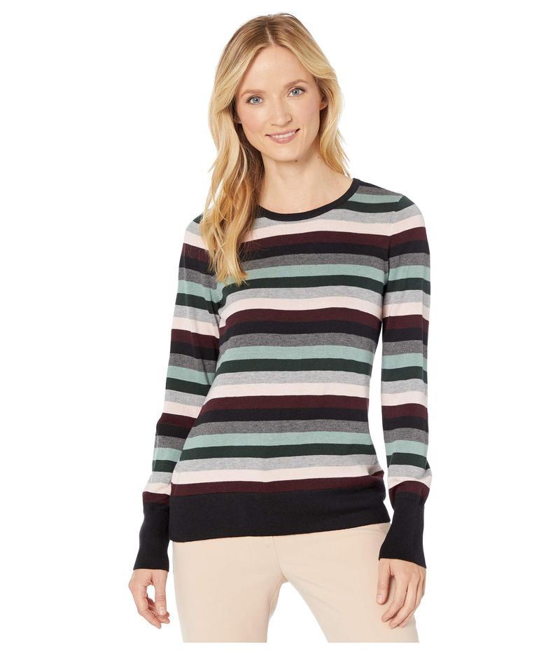 ヴィンスカムート レディース ニット・セーター アウター Long Sleeve Multi Stripe Pullover Sweater Rich Black