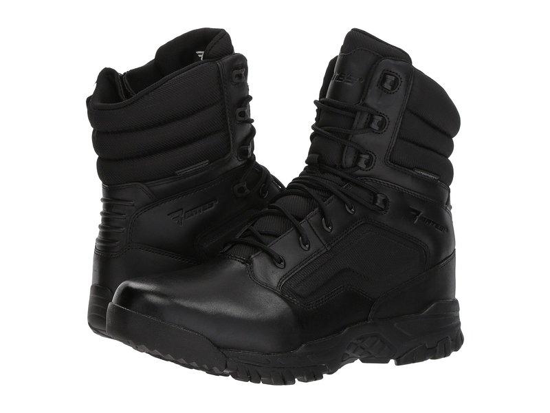 ベイツ メンズ ブーツ・レインブーツ シューズ Seige 8 Waterproof Side Zip Black