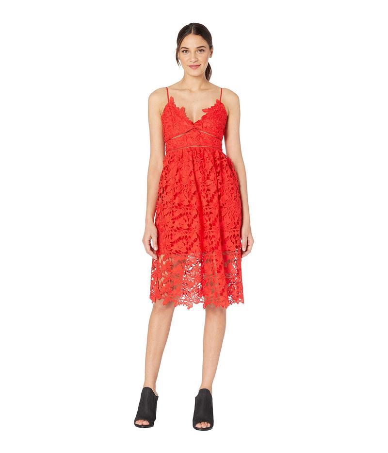 バードット レディース ワンピース トップス Sonya Lace Dress Fire Red