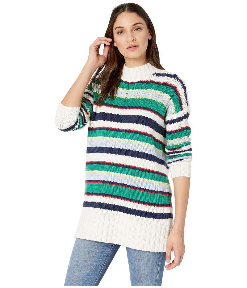 ビーシービージーマックスアズリア レディース ニット・セーター アウター Striped Boyfriend Sweater Gardenia Combo