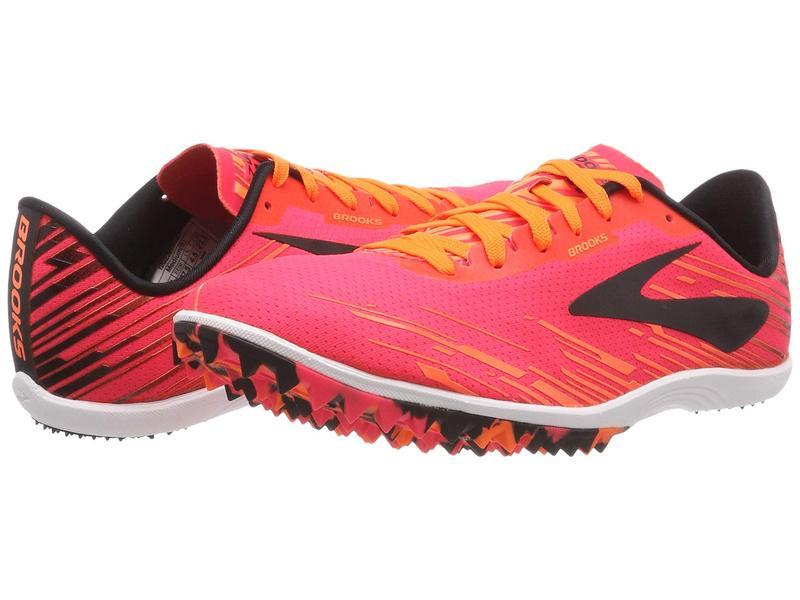 ブルックス レディース スニーカー シューズ Mach 18 Spikeless Pink/Orange/Black