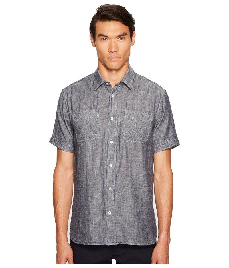 ビリーレイド メンズ シャツ トップス Clarence Short Sleeve Shirt Navy/White