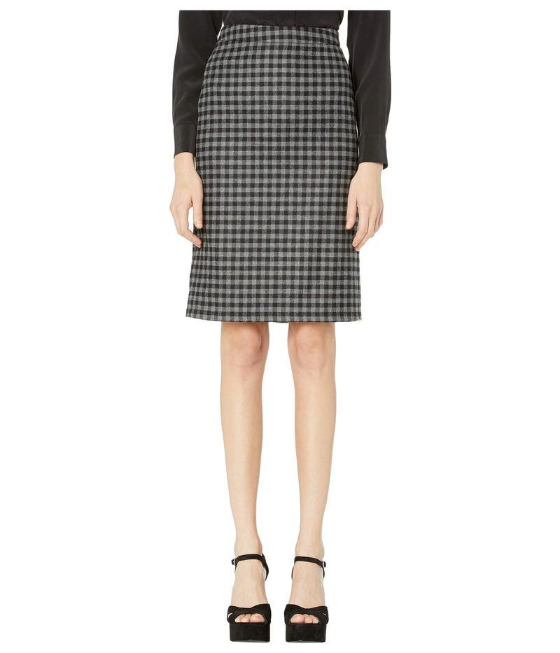ブティックモスキーノ レディース スカート ボトムス Flannel Check Pencil Skirt Grey Multi
