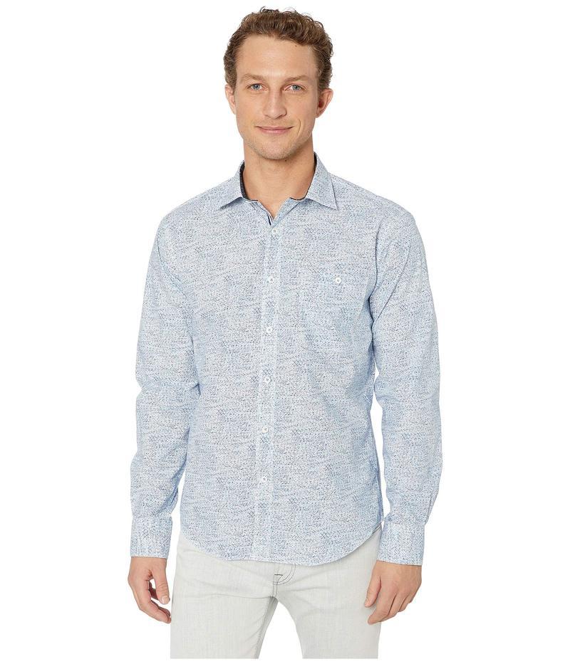 ブガッチ メンズ シャツ トップス Long Sleeve Shaped Fit Button-Up Shirt Classic Blue 2