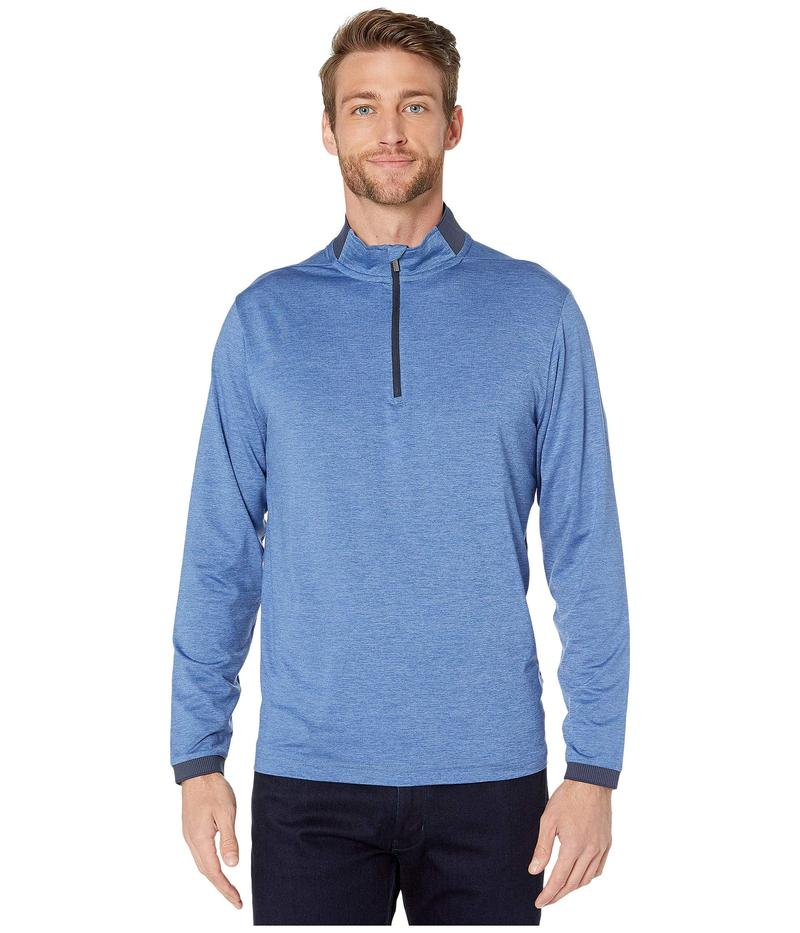ブガッチ メンズ シャツ トップス Capannori Performance 1/2 Zip Mock Neck Knit Air Blue