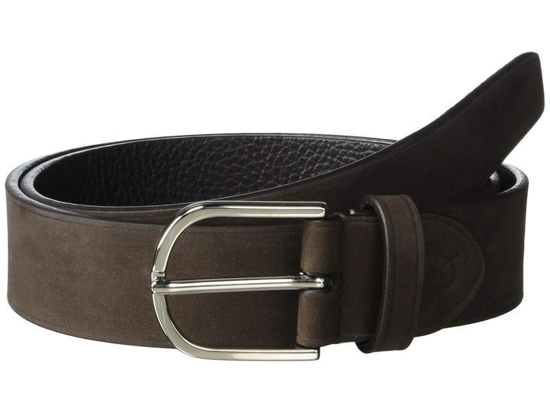 カナーリ メンズ ベルト アクセサリー Tumbled Calfskin/Nubuck Adjustable Belt Brown