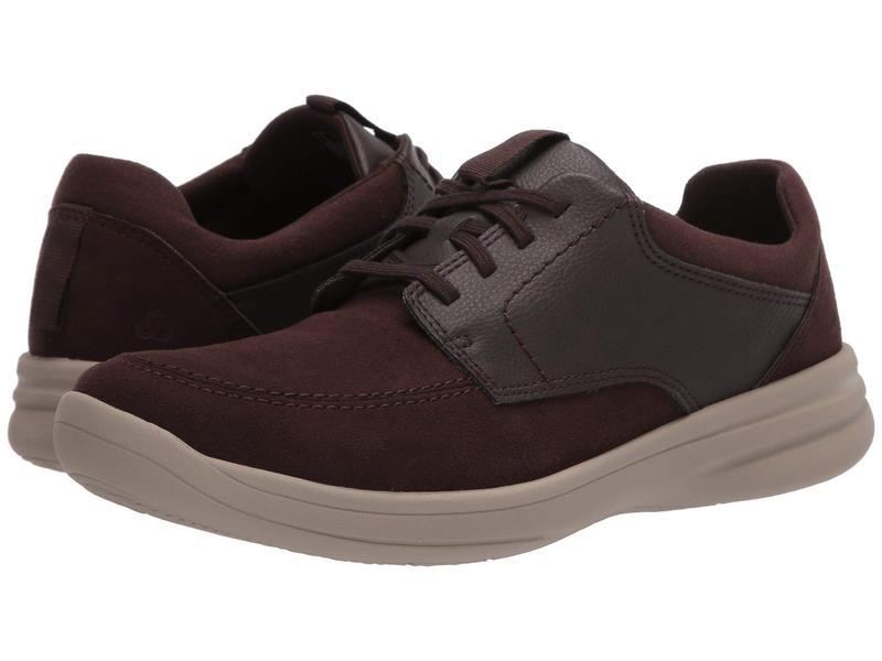 クラークス メンズ スニーカー シューズ Step Stroll Lace Brown Leather