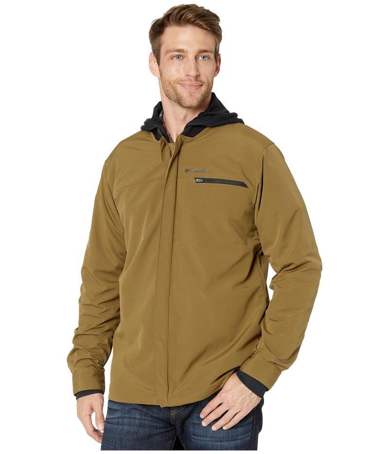 コロンビア メンズ コート アウター Tech Trail¢ Shirt Jacket Interchange Olive Brown/Black