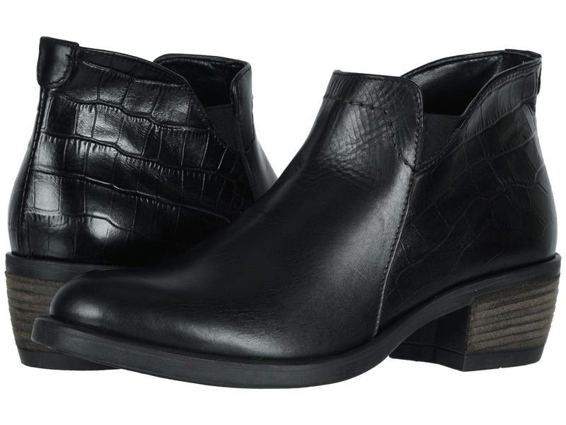 ダイビッドテイト レディース ブーツ・レインブーツ シューズ Global Black/Croc Calf Skin